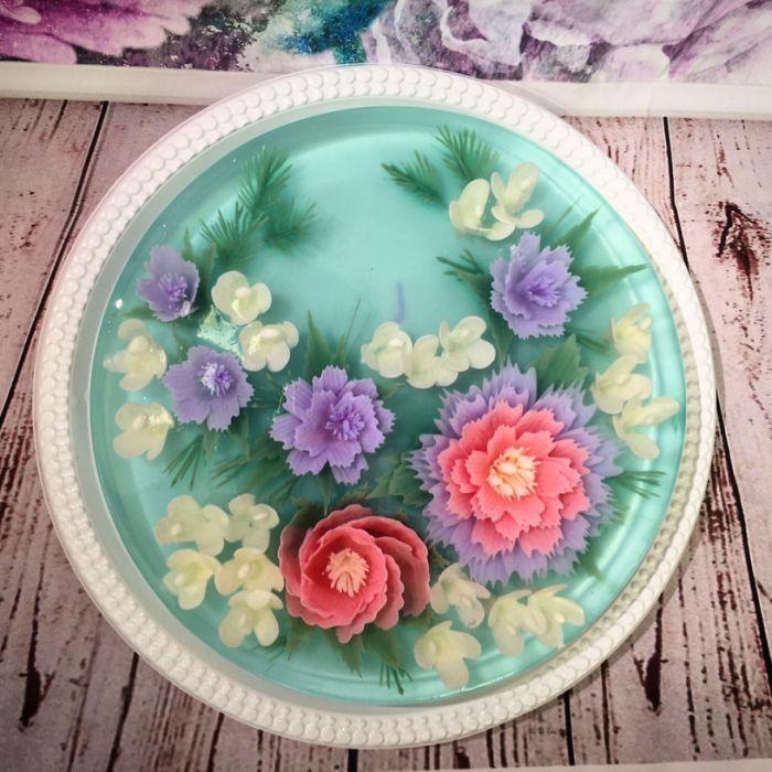 Sweet Pastel Flower Cake