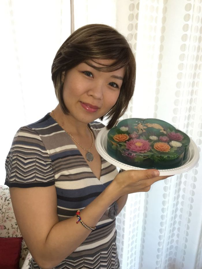 Pictured Together With My 3D Jelly Koi Fish Pond