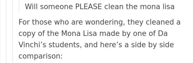 art-painting-restoration-mona-lisa-tumblr-post-6 People Won't Stop Demanding The Mona Lisa To Be Cleaned, So Someone Just Explained What Would Happen Art Design Random