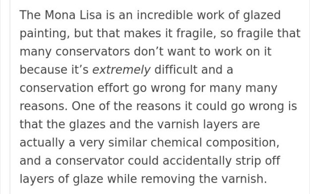 art-painting-restoration-mona-lisa-tumblr-post-9 People Won't Stop Demanding The Mona Lisa To Be Cleaned, So Someone Just Explained What Would Happen Art Design Random