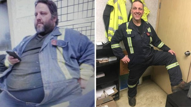 before-and-after-weight-loss-tony-bussey-fort-mcmurray-alberta-canada-18-5ac36f281dd2b__700 Obese Dad Finds Out He Needs 2 Seats On Evacuation Flight, Transforms His Body Beyond Recognition In 2 Years Design Random