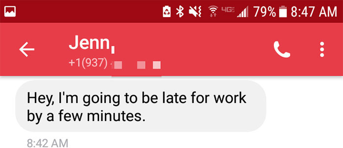boss-response-woman-late-work-21 Woman Texts Boss That She's Going To Be Late For Work, And He Has Best Response Ever Design Random