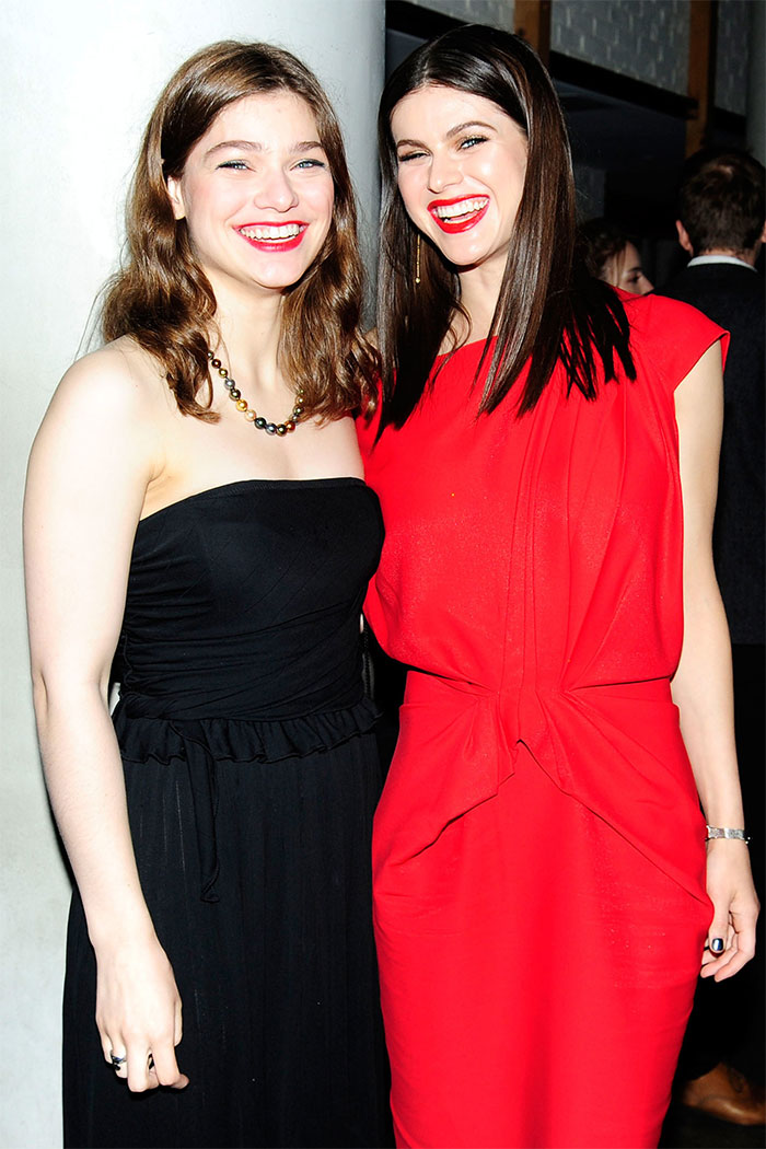 Alexandra Daddario With Her Sister Catherine