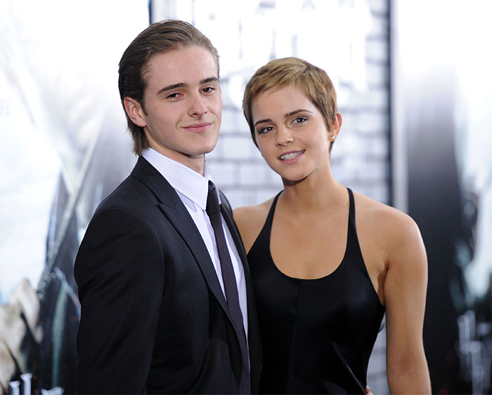 Emma Watson With Her Brother Alex