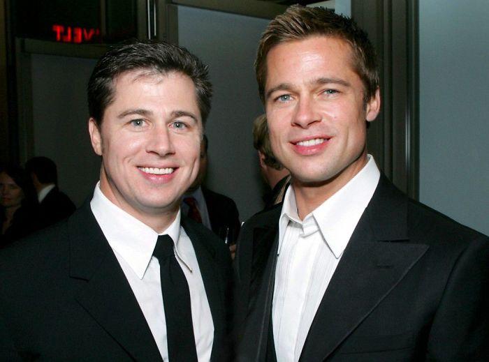 Brad Pitt With His Brother Doug