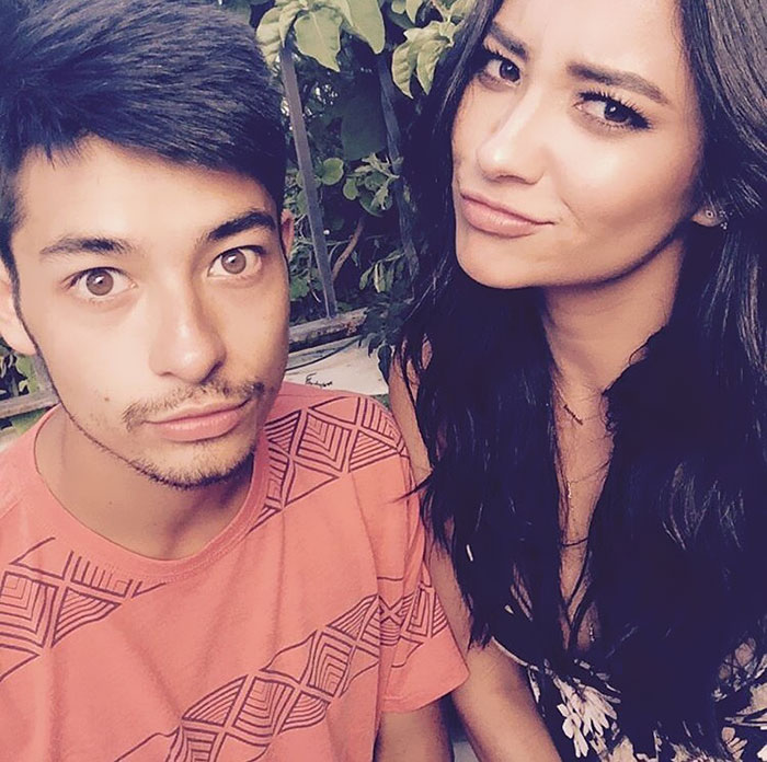Shay Mitchell With Her Younger Brother Sean