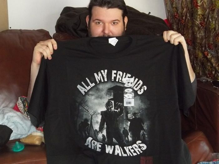 So My Brother, Richard, Is A Paraplegic And Has Been In A Wheelchair For About 25 Years. I'm Fairly Certain My Mom Didn't Much Care If He Was A Walking Dead Fan. She Just Thought This Was Freaking Hilarious, As Did The Rest Of Us