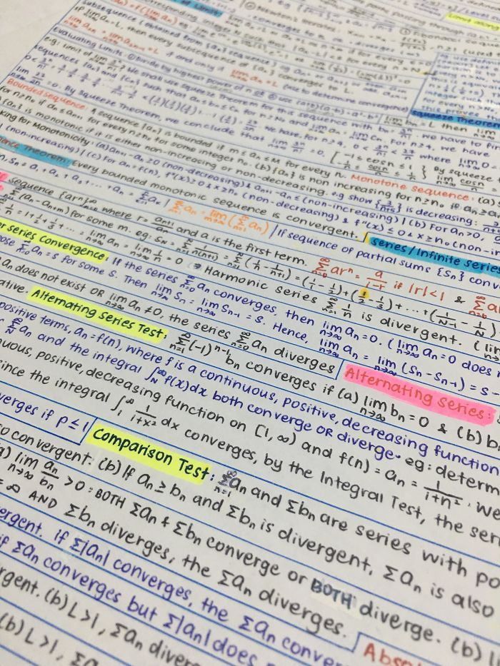 This Is How I Maximize Space In My Cheat Sheets