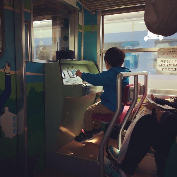 Children's Seat On The Fujikyu Railway Line In Japan