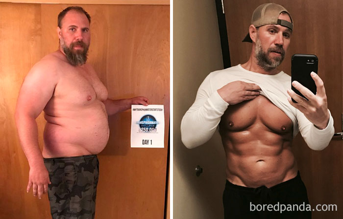 Father-Of-Three Realizes He Can't Keep Up With His Children, Transforms His Body Beyond Recognition In 6 Months. From Size 42 In Jeans To A 33