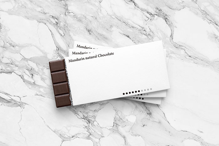Minimal Packaging For Natural Chocolate Bars