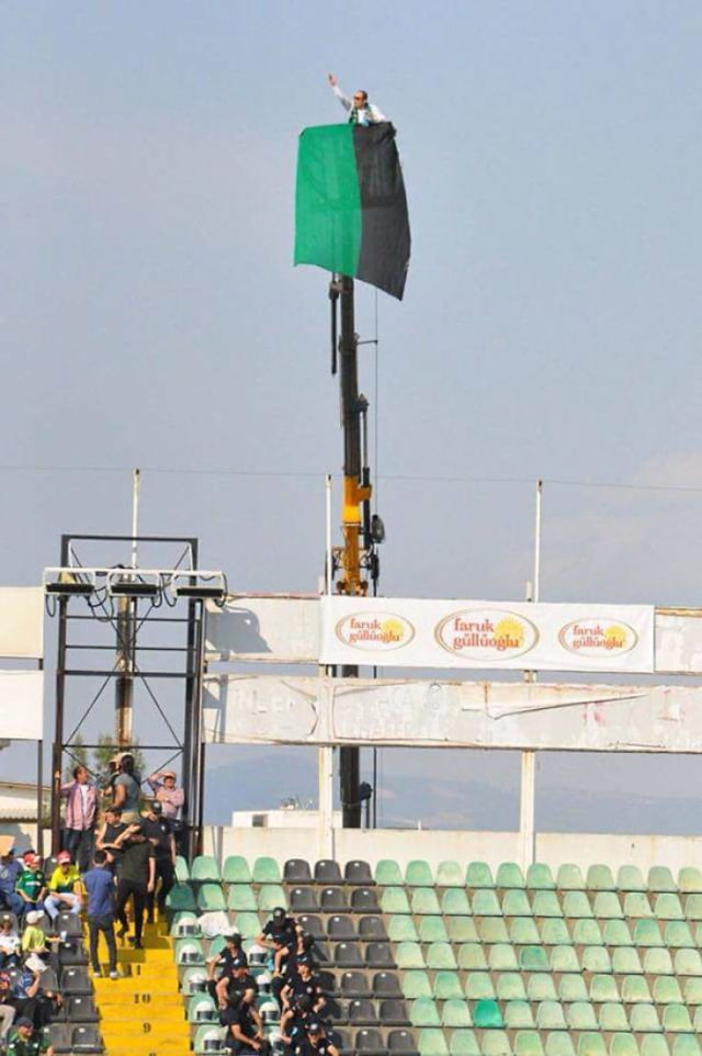 Fan Got A 1 Year Ban From The Stadium So Decides To Rent A Crane To Watch The Game