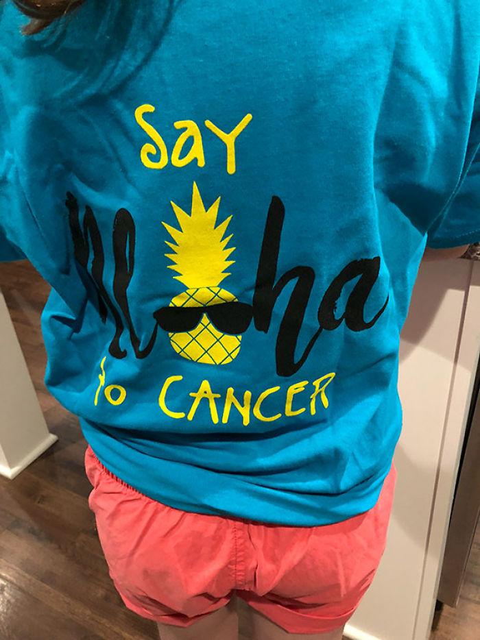 Di Aloha al cáncer. Espera, ¿Aloha no significa Hola también?