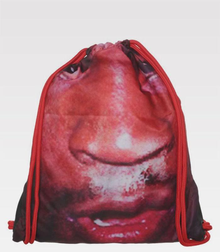 """""""¡Pongamos una cara en una bolsa de gimnasia!"""""""