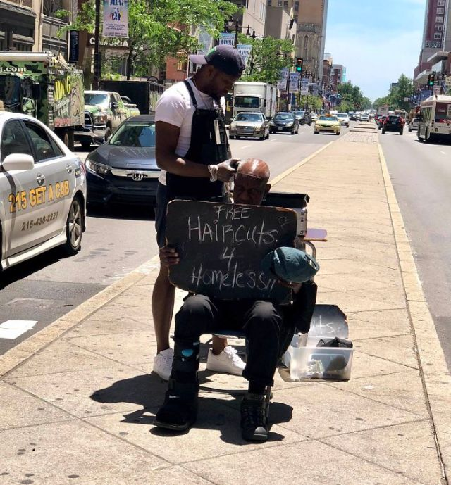 Caught This Legend In Philadelphia Today. Simple And Selfless