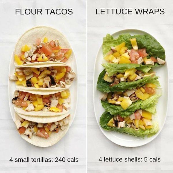 Flour Tacos Vs Lettuce Wraps