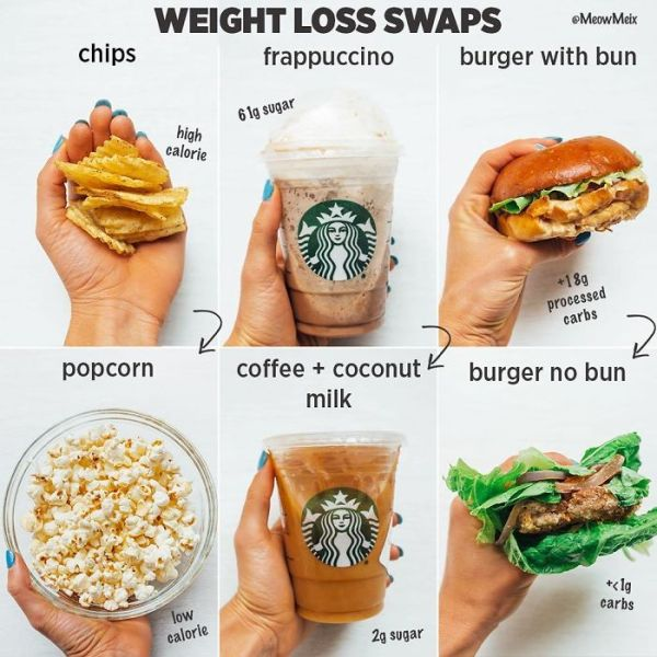 These Swaps Will Not Only Save Your Waistline But Also Your Health