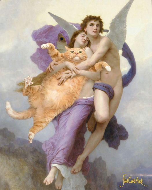 Famous-Paintings-Zarathustra-Fat-Cat-New-Art-Svetlana-Petrova