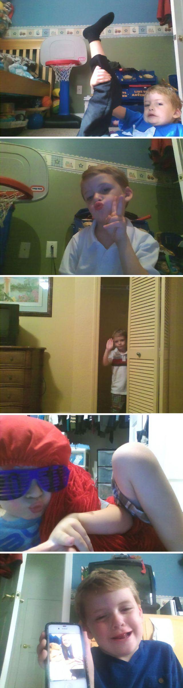 Cada vez que me duermo mi pariente me roba el notebook y se hace estas fotos