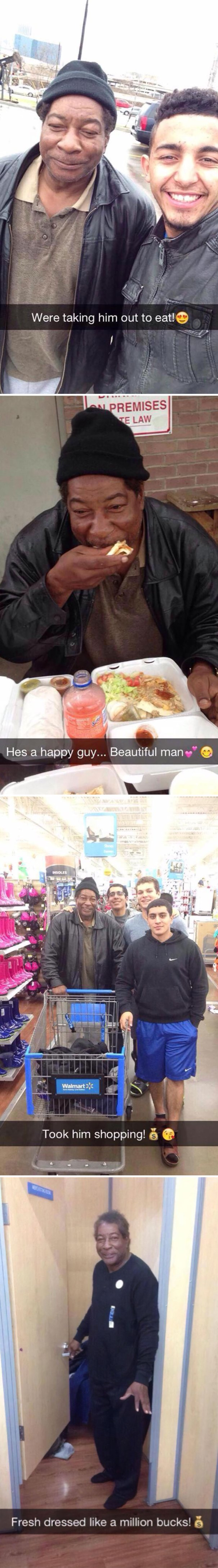 These Boys See This Homeless Man Everyday On Their Way To School So They Decided To Help Him Out
