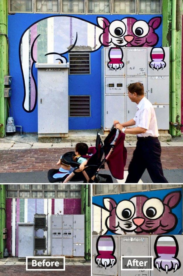 street-art-tom-bob-new-york-city-12-5b169f673b57a__880 Genius Street Artist Is Running Loose In New York, And Let's Hope Nobody Catches Him (30+ New Pics) Art Design Random