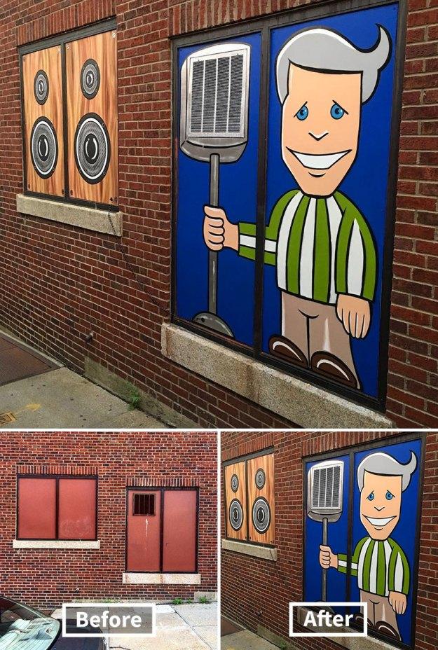 street-art-tom-bob-new-york-city-34-5b169fa504f05__880 Genius Street Artist Is Running Loose In New York, And Let's Hope Nobody Catches Him (30+ New Pics) Art Design Random