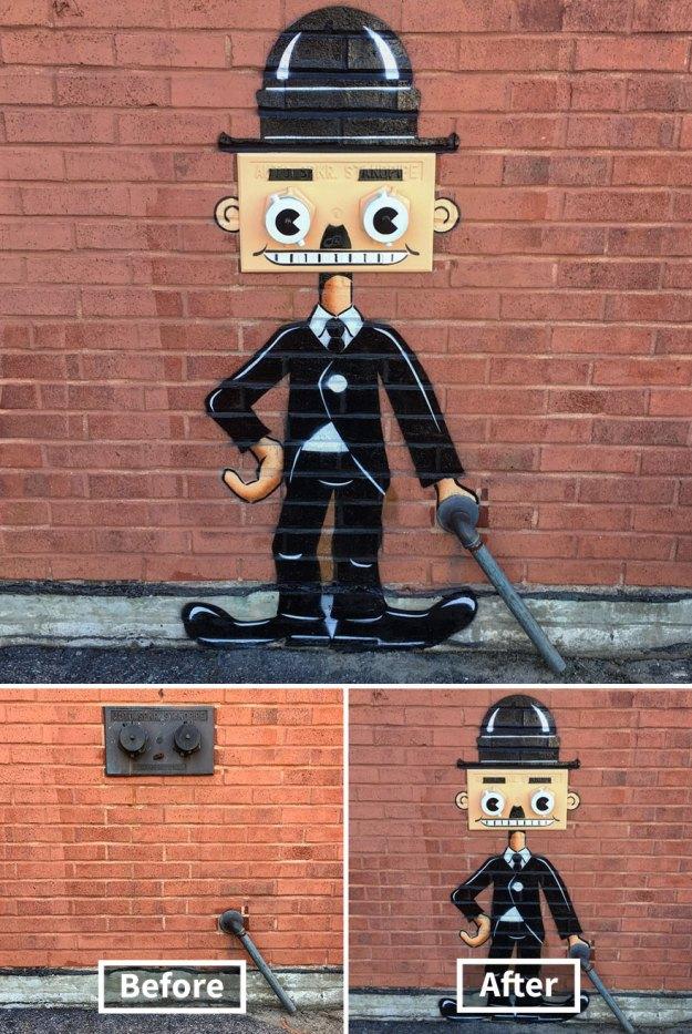 street-art-tom-bob-new-york-city-36-5b169fab6cb65__880 Genius Street Artist Is Running Loose In New York, And Let's Hope Nobody Catches Him (30+ New Pics) Art Design Random