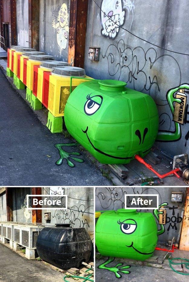 street-art-tom-bob-new-york-city-45-5b169fc4eb301__880 Genius Street Artist Is Running Loose In New York, And Let's Hope Nobody Catches Him (30+ New Pics) Art Design Random