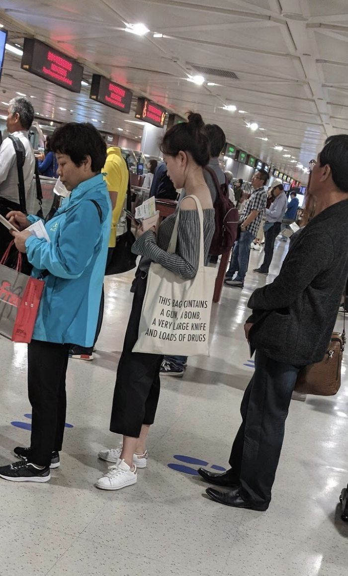 en un viaje reciente a Taipei, A Amigo capturado esto en la línea de seguridad