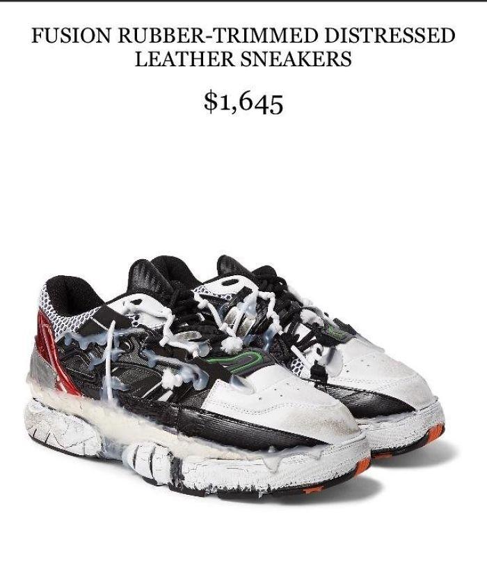 Estos zapatos se parecen a alguien que se rompió una tuerca por todos lados