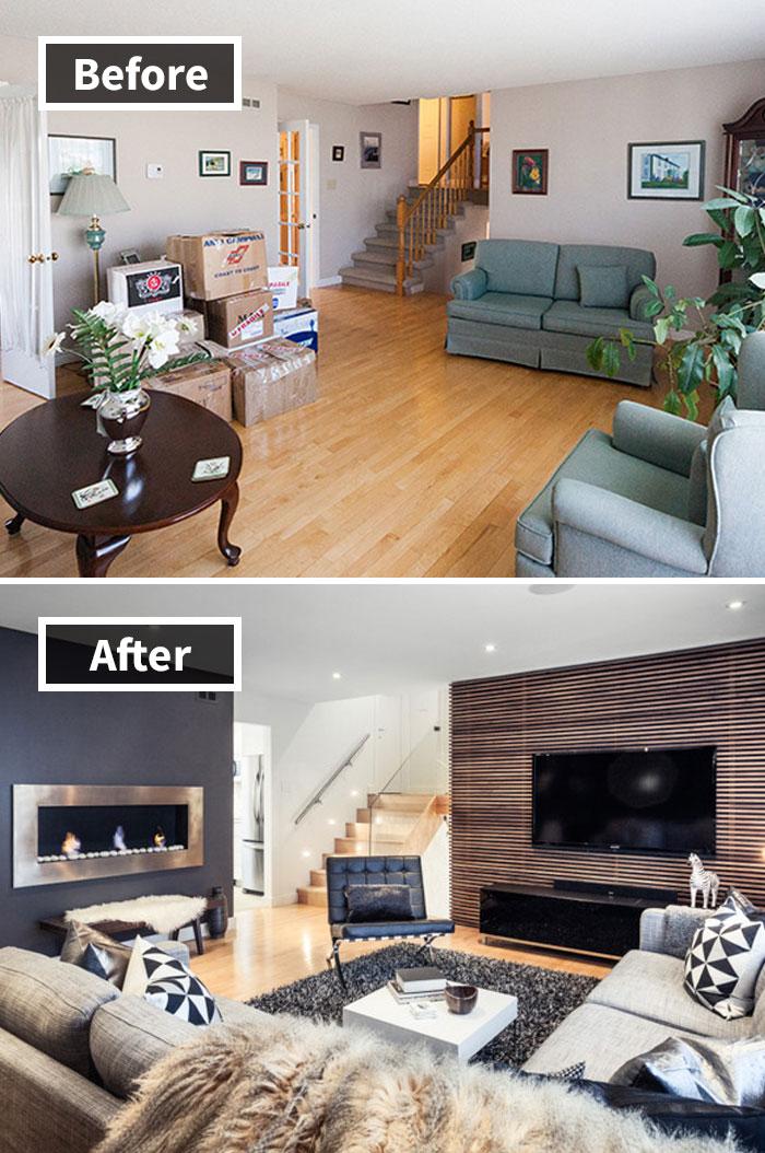 Transformación de la sala de estar