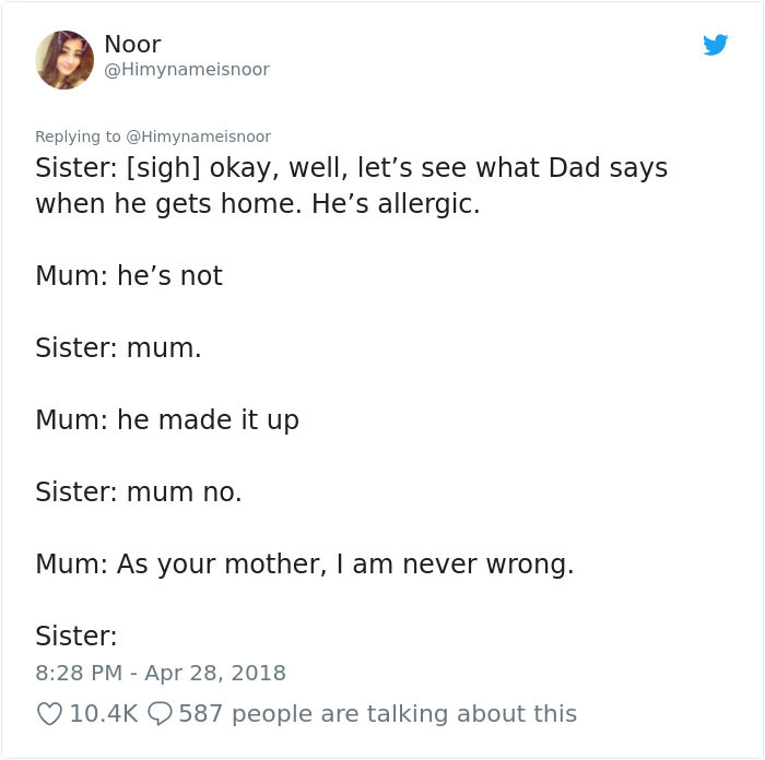 crazy-mom-buys-parrots-twitter-5b4311ff95a10__700 Mom Calls Daughter Asking If She Can 'Keep A Secret' From Dad, And It Escalates Hilariously Design Random