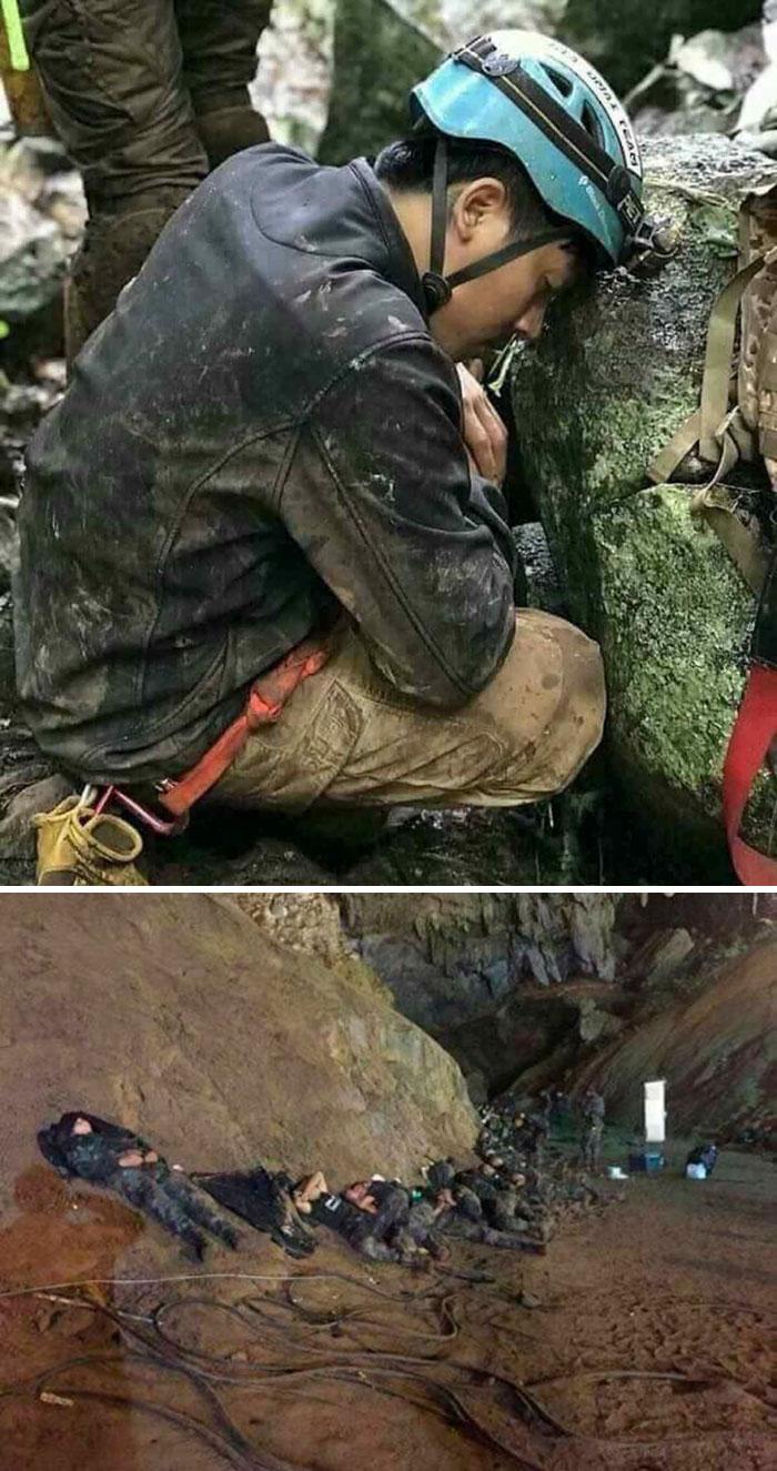Así es como descansan los héroes. Todos los 13 del equipo de fútbol tailandés rescatados de la cueva después de 17 días