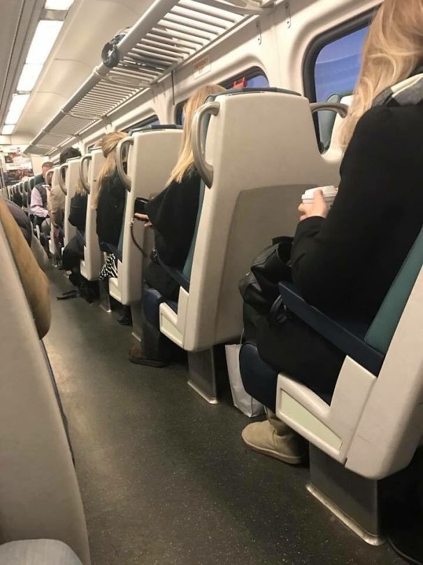 My Friend Got On The Train And The Same Woman Sat Down, 4 Times...