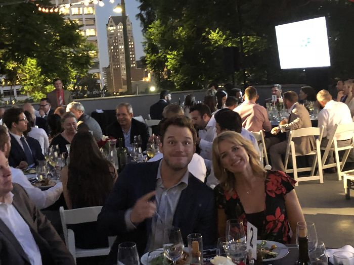 """My Dad Sent Me A Picture Of My Mom And The """"Nice Young Man"""" At Their Table At A Charity Dinner Last Night"""