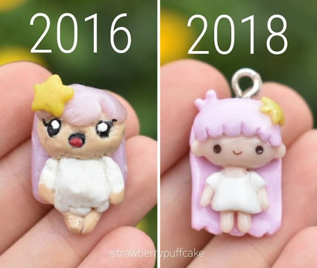 Clay-modeling-artist-showed-how-the-experience-made-him-evolve-and-this-progress-is-very-good-to-see-5b6aabbb3c796__700 Artist Tries To Recreate Her Old Artworks, Gets Pleasantly Surprised By How Much She Has Evolved (10+ Pics) Art Design Random