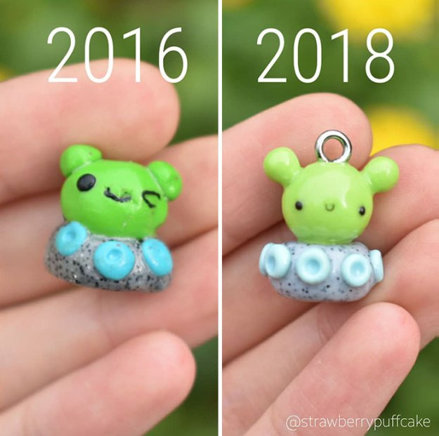 Clay-modeling-artist-showed-how-the-experience-made-him-evolve-and-this-progress-is-very-good-to-see-5b6aabbe6d7a8__700 Artist Tries To Recreate Her Old Artworks, Gets Pleasantly Surprised By How Much She Has Evolved (10+ Pics) Art Design Random