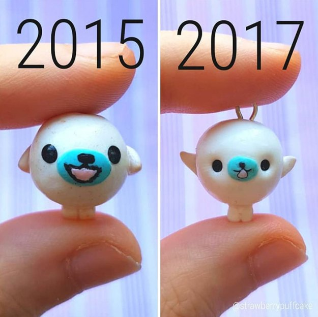 Clay-modeling-artist-showed-how-the-experience-made-him-evolve-and-this-progress-is-very-good-to-see-5b6aabc4f107a__700 Artist Tries To Recreate Her Old Artworks, Gets Pleasantly Surprised By How Much She Has Evolved (10+ Pics) Art Design Random