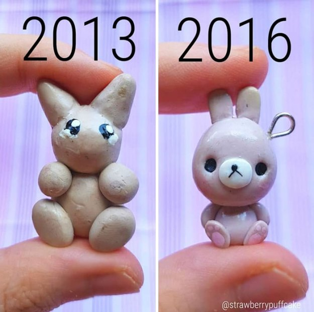 Clay-modeling-artist-showed-how-the-experience-made-him-evolve-and-this-progress-is-very-good-to-see-5b6aabd4bcf38__700 Artist Tries To Recreate Her Old Artworks, Gets Pleasantly Surprised By How Much She Has Evolved (10+ Pics) Art Design Random