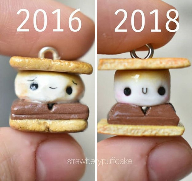 Clay-modeling-artist-showed-how-the-experience-made-him-evolve-and-this-progress-is-very-good-to-see-5b6aabdc5b4c1__700 Artist Tries To Recreate Her Old Artworks, Gets Pleasantly Surprised By How Much She Has Evolved (10+ Pics) Art Design Random