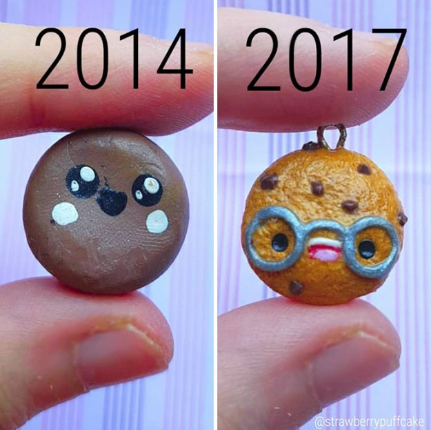 Clay-modeling-artist-showed-how-the-experience-made-him-evolve-and-this-progress-is-very-good-to-see-5b6aabf41a9dd__700 Artist Tries To Recreate Her Old Artworks, Gets Pleasantly Surprised By How Much She Has Evolved (10+ Pics) Art Design Random