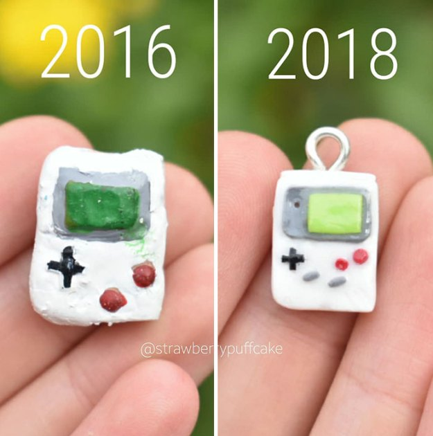 Clay-modeling-artist-showed-how-the-experience-made-him-evolve-and-this-progress-is-very-good-to-see-5b6aac7f6c705__700 Artist Tries To Recreate Her Old Artworks, Gets Pleasantly Surprised By How Much She Has Evolved (10+ Pics) Art Design Random