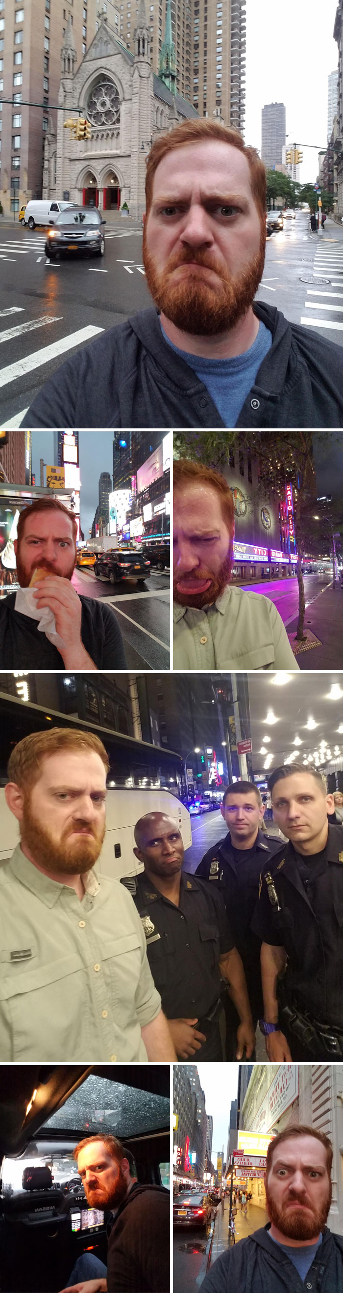 Went To NYC On Business And I Had To Show My Wife I Wasn't Enjoying It Without Her, So Here Is Me Having A Bad Time All Over New York