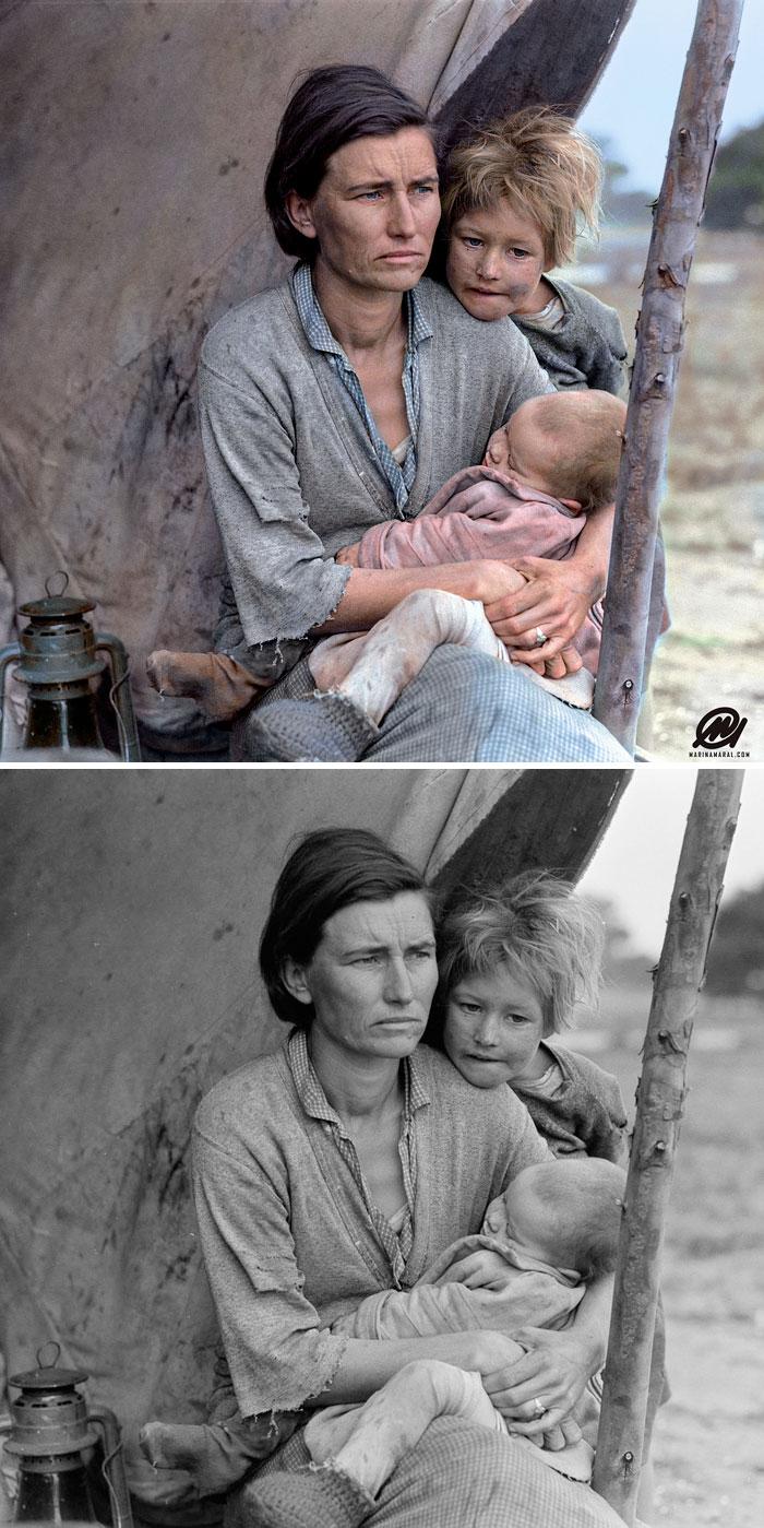 Madre migrante, Nipomo, California, 1936
