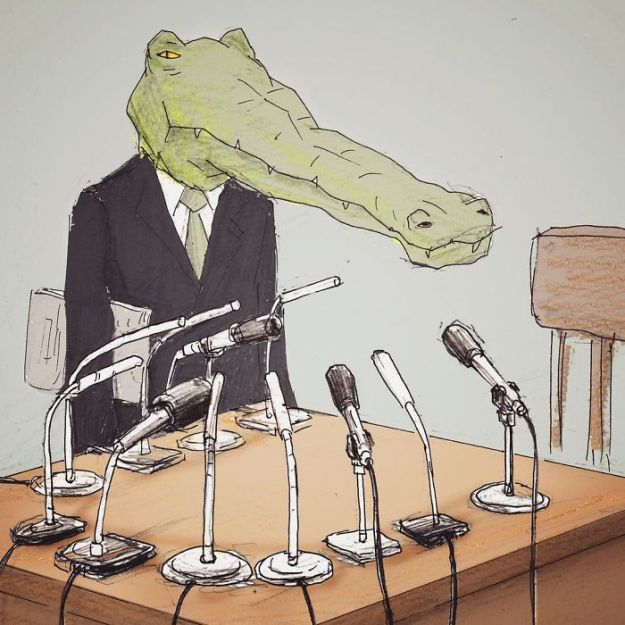 crocodile-life-animals-illustrations-keigo-japan-21-5b7a7cf9dd63b__700 20+ Problems Of A Crocodile Hilariously Illustrated By Japanese Artist Keigo Design Random
