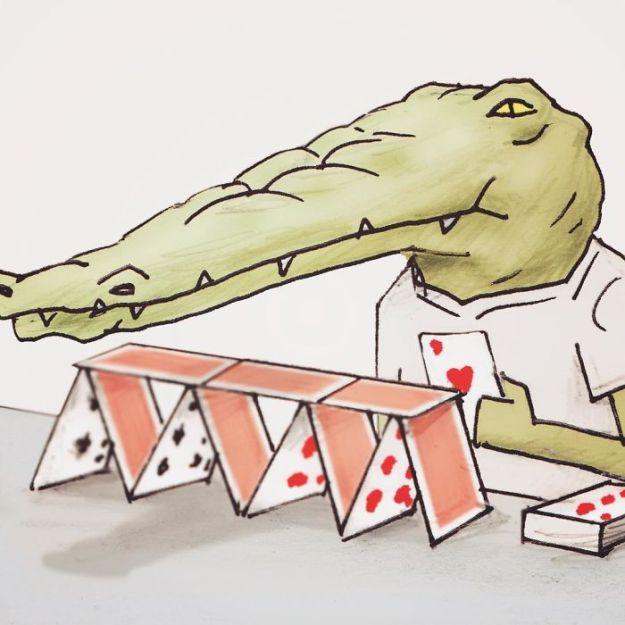crocodile-life-animals-illustrations-keigo-japan-38-5b7a7d2a3a220__700 20+ Problems Of A Crocodile Hilariously Illustrated By Japanese Artist Keigo Design Random