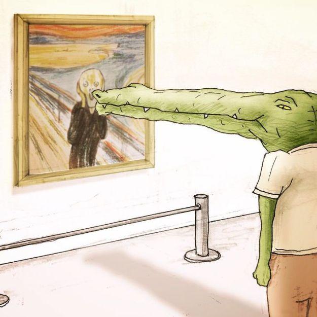 crocodile-life-animals-illustrations-keigo-japan-39-5b7a7d2d719e9__700 20+ Problems Of A Crocodile Hilariously Illustrated By Japanese Artist Keigo Design Random