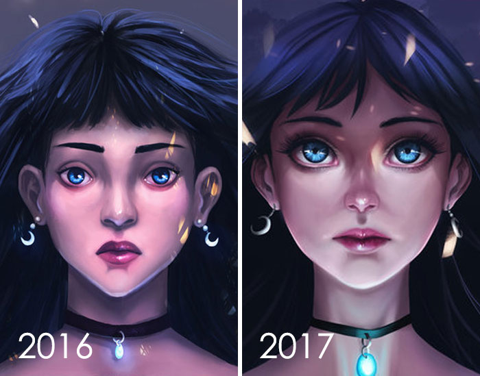 Redibujando mis obras de arte antiguas de 2016, Here Is My Year Progress