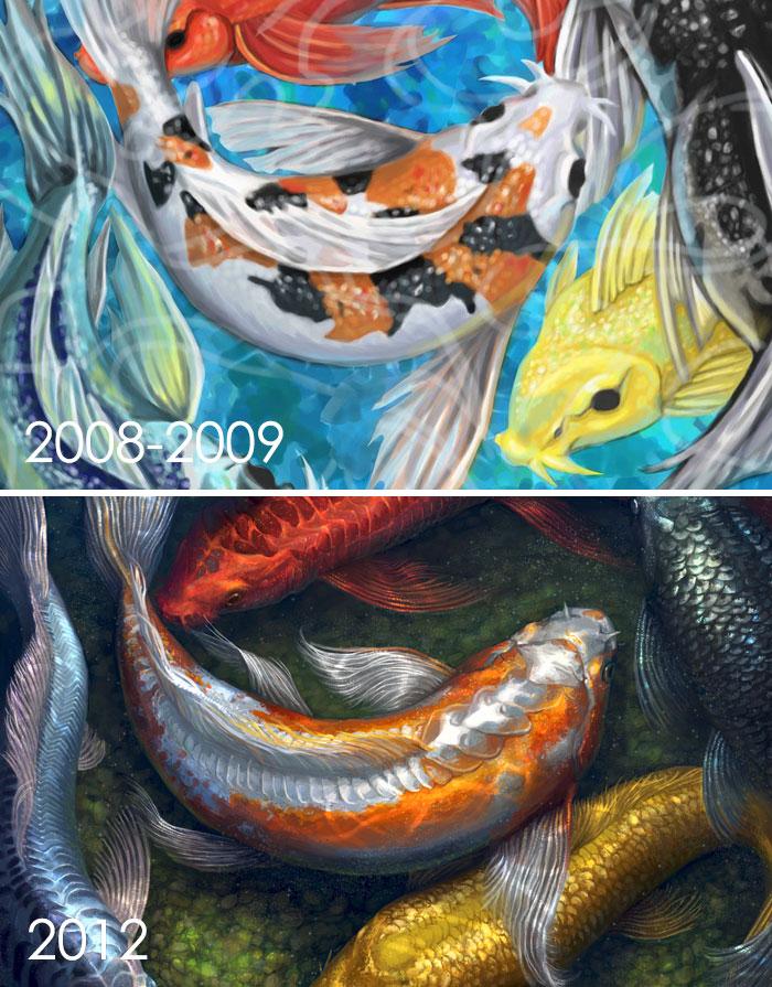 El trabajo anterior se realizó alrededor de 2008-2009 y la nueva versión En 2012