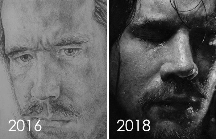 Dos años de dibujo todos los días
